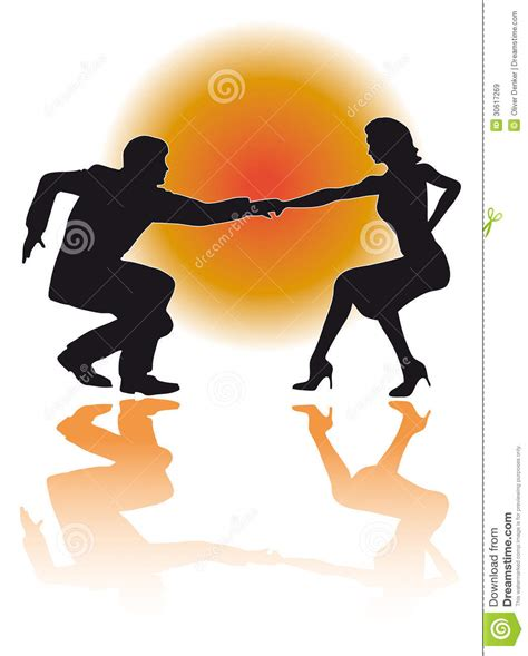 swing dance variations swing dancing couple vector royalty free stock images