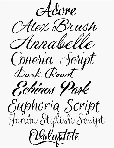 collection of 25 free cursive lettering tattoo designs