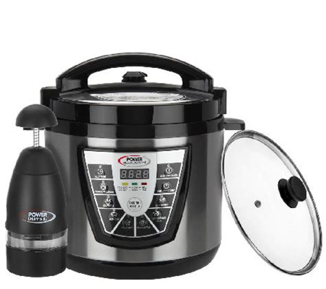 the power pressure cooker xl power pressure cooker xl black 6 qt digital w glass lid