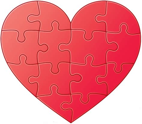 printable heart puzzle template printable heart graphics free customized printable heart