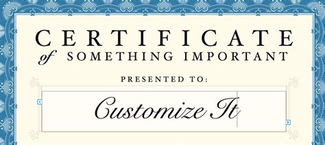 Templates For Certificates For Mac | free printable certificates certificate templates award