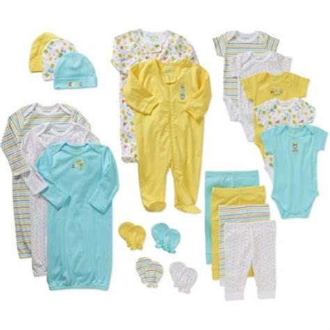Set Baby baby shower 21 set unisex clothes toddler newborn 0