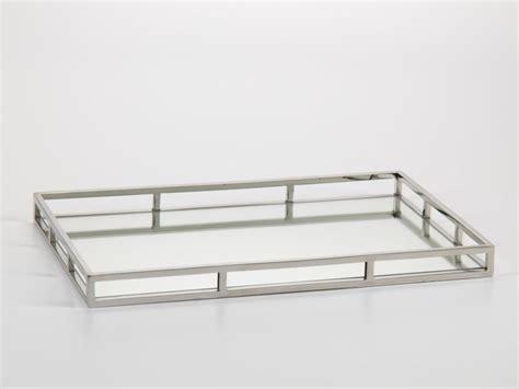 Mirror Tray large rectangular mirrored tray modern metal