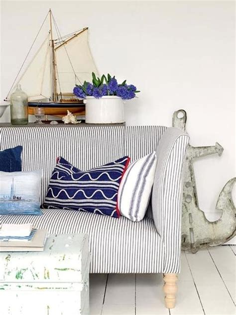 coastal home decor accessories modern interior decorating with blue stripes and nautical