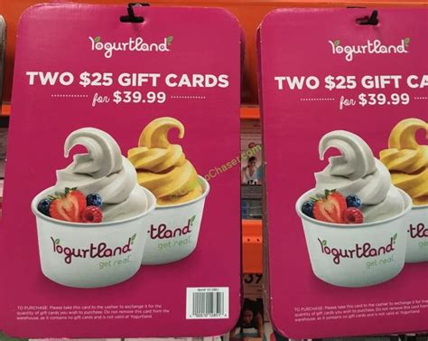 Discount Costco Gift Cards - yogurtland discount gift card costcochaser