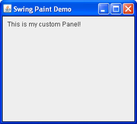 swing jpanel creating the demo application step 2 the java