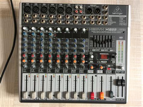 Mixer Xenyx X1222usb behringer xenyx x1222usb image 1769522 audiofanzine