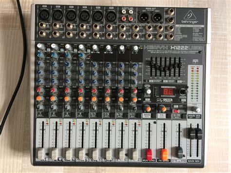 Mixer Behringer Xenyx X1222usb behringer xenyx x1222usb image 1769522 audiofanzine