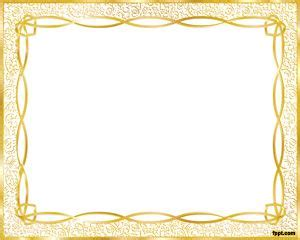 cornici powerpoint gold frame template
