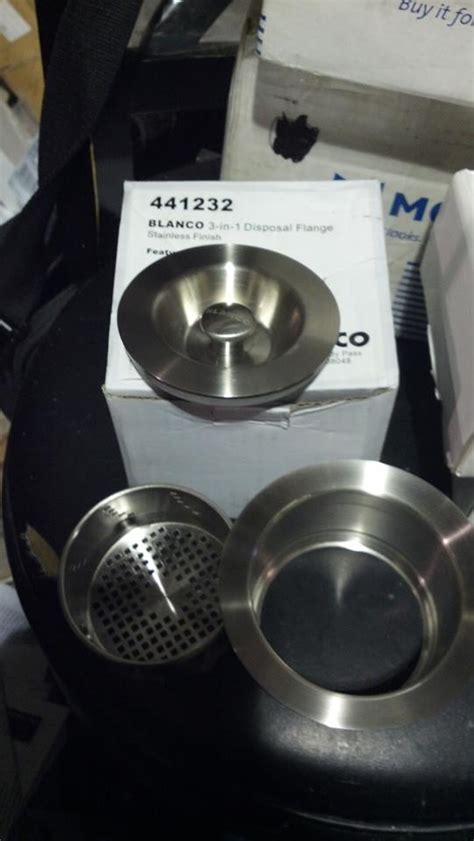 blanco disposal flange blanco 441232 3 in 1 disposal flange stainless steel pppa