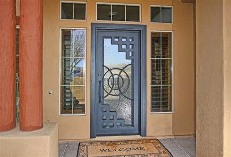 Front Door Security Products by Custom Abstract Iron Entry Door By Impression