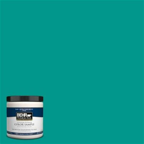 behr premium plus 8 oz s g 490 teal interior exterior paint sle s g 490pp the
