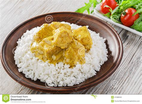 curry payment plan chicken curry with rice stock photo image 41088345