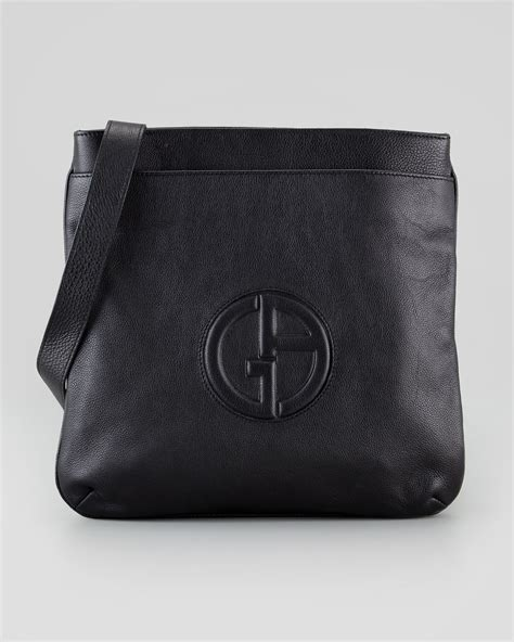 Giorgio Armani Bag Rc001 lyst giorgio armani mens logo messenger bag in black for