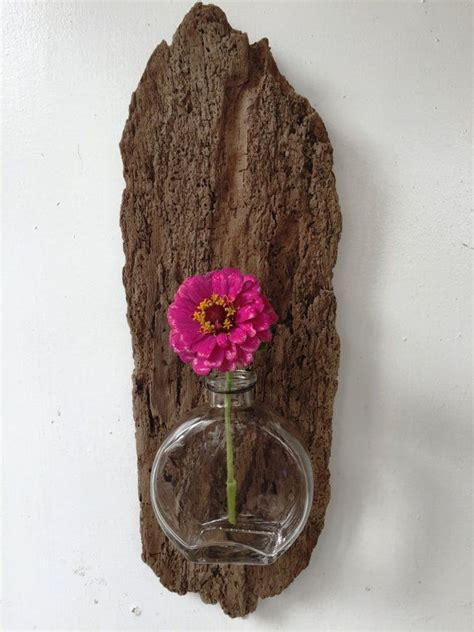floreros rusticos de madera driftwood florero de madera reciclada por