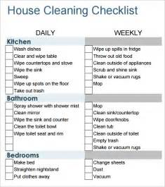 Cleaning Template by 6 House Cleaning List Templates Word Excel Pdf Templates