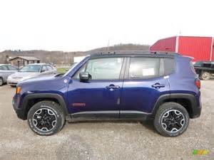 Jeep Renegade Blue Jetset Blue 2016 Jeep Renegade Trailhawk 4x4 Exterior
