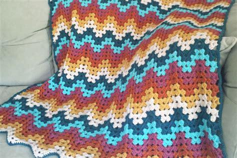 crochet wave ripple pattern stitch knitting bee granny ripple blanket crochet pattern knitting bee