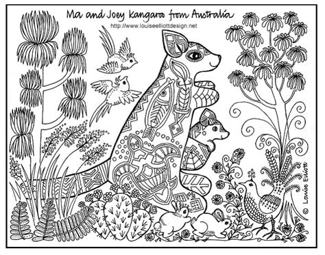 coloring pages of animals with designs download
