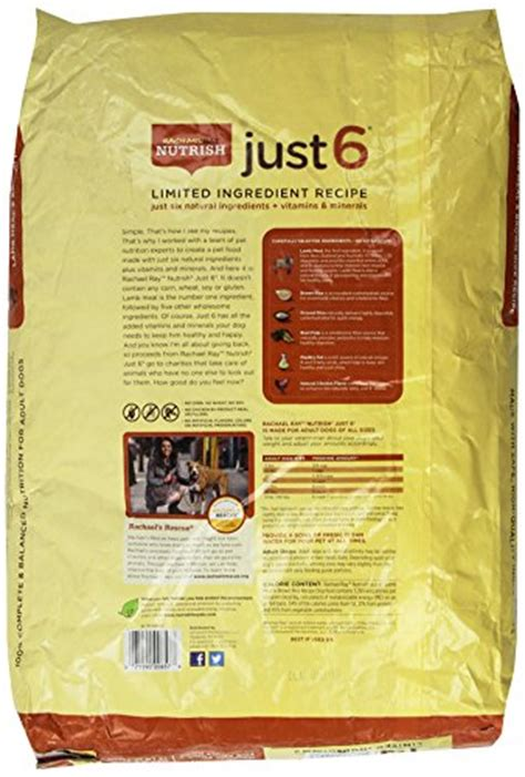 rachael ray nutrish just 6 lamb meal brown rice recipe dog food rachael ray nutrish just 6 natural dry dog food limited