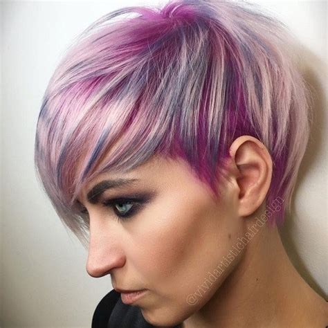 Hairstyles With Highlights by Pixie Haircut Hairstyles With Color And Two Tone