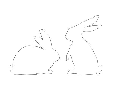 bunny template printable easter rabbit templates printable happy easter 2018