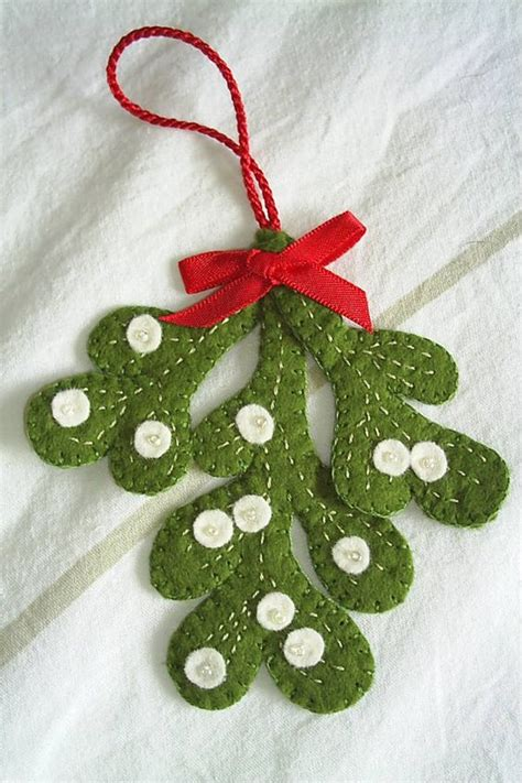 christmas mistletoe decoration felt mistletoe xmas tree