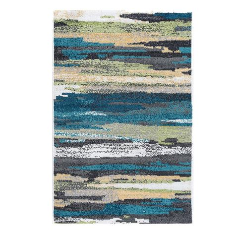 2 x 3 accent rugs tayse rugs milan blue 2 ft x 3 ft accent rug mln4506 2x3