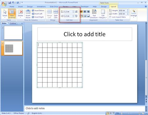cell layout ppt how to create a square grid in the powerpoint super user