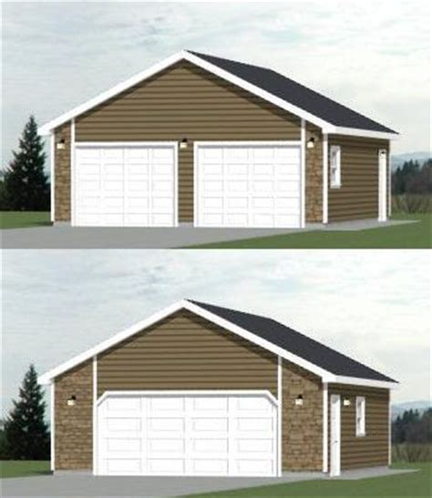 24x28 2 car garage 672 sq ft pdf floor plan