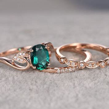 emerald engagement rings vintage wedding promise