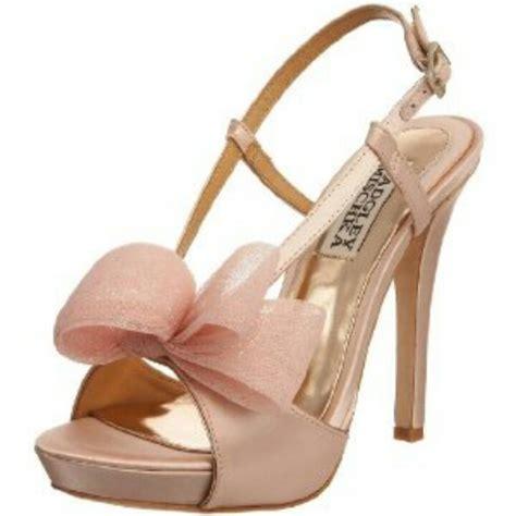 blush pink shoes rustic theme wedding