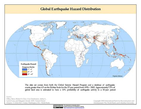 earthquake frequency maps 187 global earthquake hazard frequency and distribution
