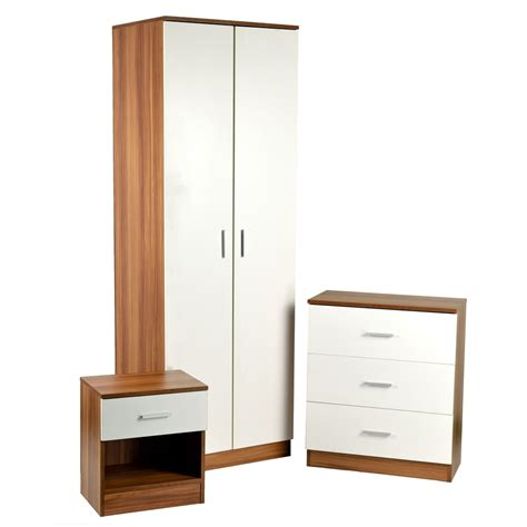 Wardrobe Sets Uk by Homegear 3 Bedroom Furniture Set Wardrobe Drawers
