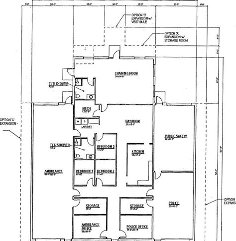 Public Building Floor Plans | a new public safety building for necedah regional news