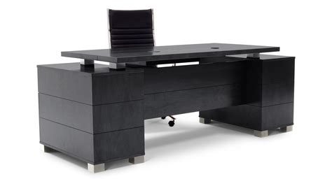 black desk with file drawer ford executive modern desk with filing cabinets black