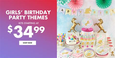 birthday themes at party city birthday party supplies for kids adults party city canada
