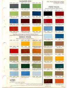 truck paint colors paint chips 1976 t