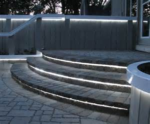 patio step lights landscape lighting design by landscape architects at