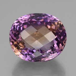 51ct bi color ametrine gem from bolivia and untreated