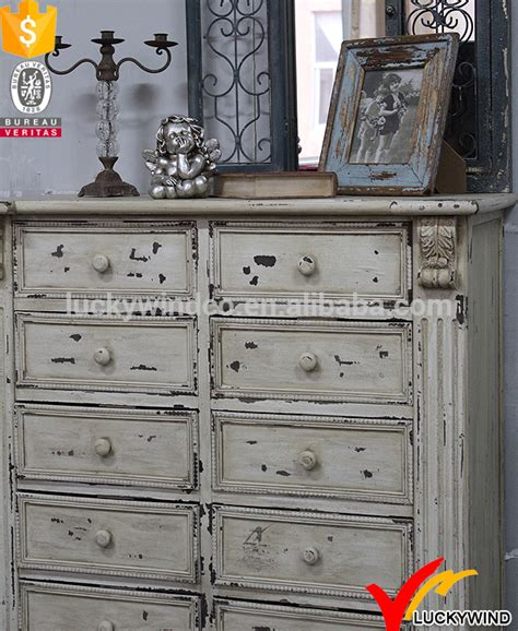 distressed white drawers handmade shabby chic wood furniture view wood furniture luckywind