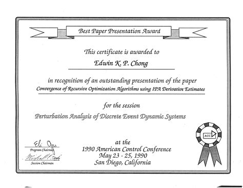 pattern recognition letters editorial board selected awards and honors of edwin chong