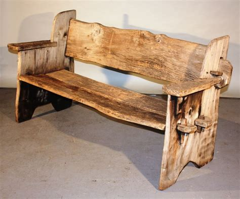 rustic outdoor bench rustic scottish garden bench at 1stdibs