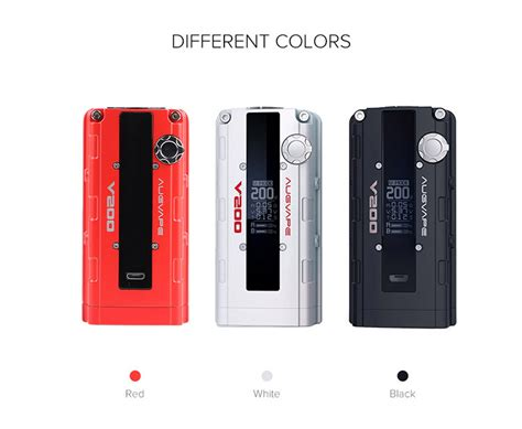 V200 Box Mod Authentic By Augvape 100 authentic augvape v200 mod inspired by the b18c