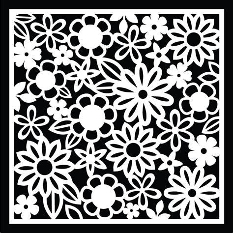 flower pattern dxf free background cut files birds cards stencils