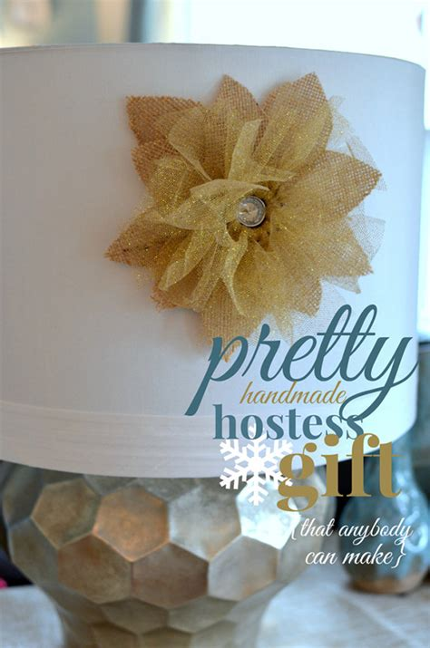 Handmade Hostess Gifts - advent diy day 15 lshade flower hostess gift by a pop