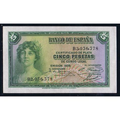 comprar lingotes de oro banco de espa a 1935 banco de espa 241 a 5 pesetas sc tienda numismatica