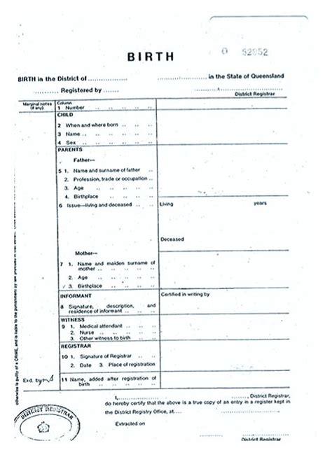 cute looking birth certificate template