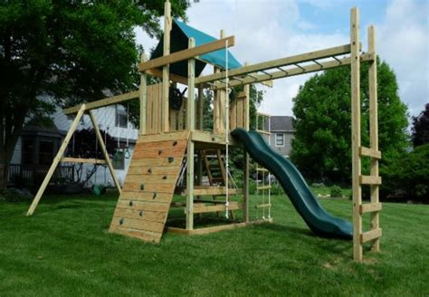 small swings small swing set with monkey bars wooden global