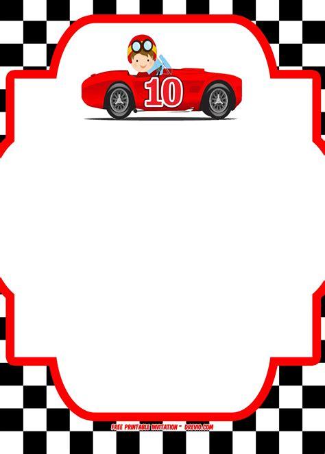 Free Printable Race Car Invitation Templates Bagvania Free Printable Invitation Template Race Car Invitation Templates
